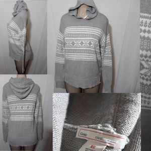 Gap Winter Print Hooded Sweater-Size XS